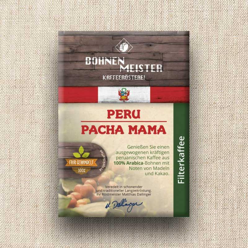 Bohnenmeister Peru Pacha Filterkaffee Arabica