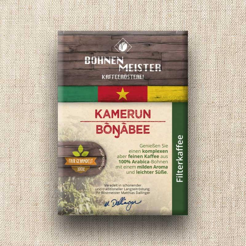 Bohnenmeister Kamerun Filterkaffee 100% Arabica