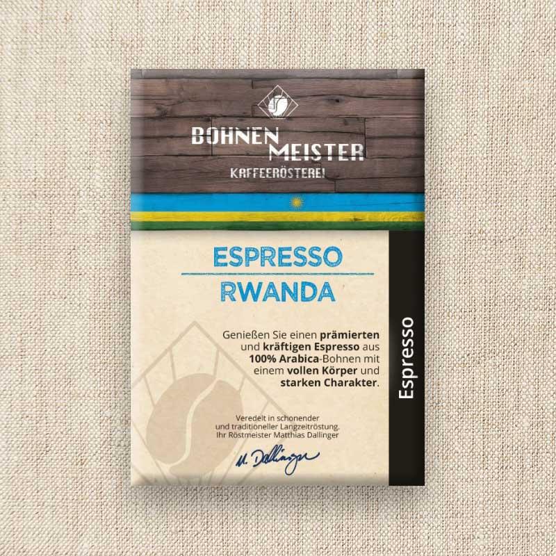Bohnenmeister Espresso Rwanda 100% Arabica 250g