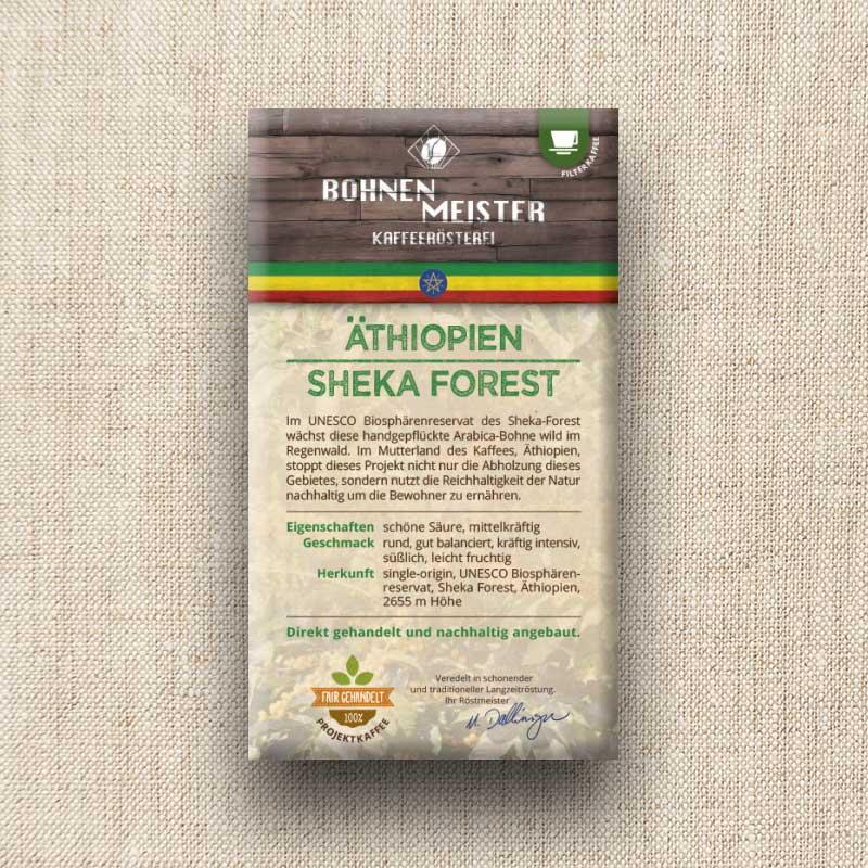 Bohnenmeister Äthiopien Filterkaffee 100% Arabica 250 g
