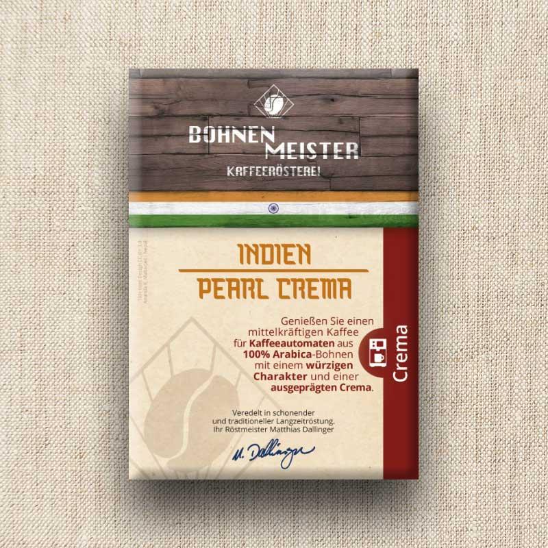 Bohnenmeister Indien Pearl Crema 100% Arabica 250 g
