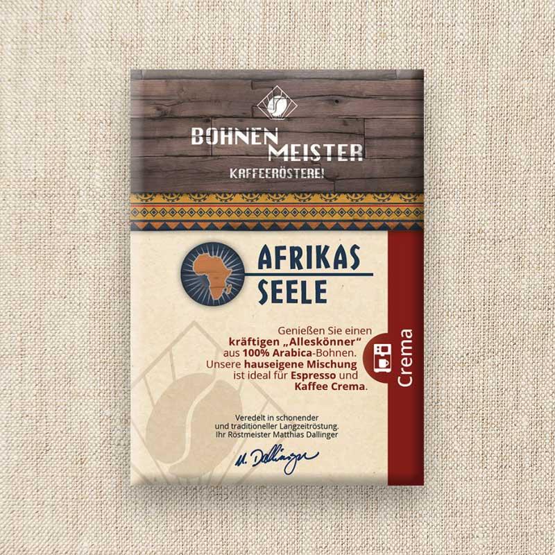 Bohnenmeister Afrikas Seele 100% Arabica 250g