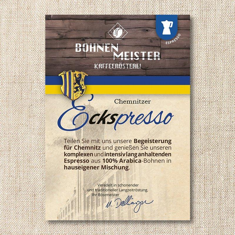 Bohnenmeister Chemnitzer E[cks]presso 100% Arabica 250g